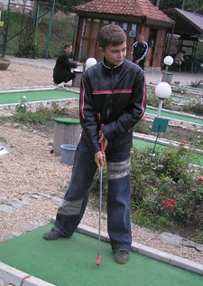 Дождь не помешал азартным гольфистам