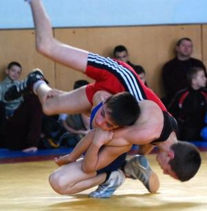 Состязания юных борцов