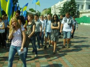 """В нашем объективе: """"Вставай, Украина"""" и """"фашизм не пройдёт"""""""