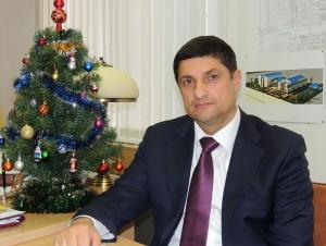 Интервью мэра в новогоднем интерьере
