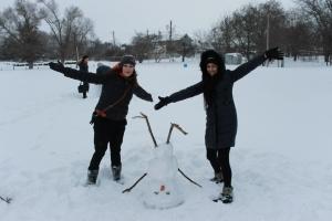 Это мой снежный друг!