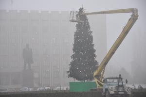 Ёлка в тумане