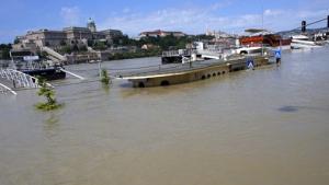 Десятки грузовых судов застряли на обмелевшем из-за жары Дунае