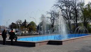 В Измаиле заработал центральный фонтан