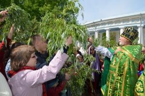 …И бережно сжимаем ветви вербы, как символ христианской вечной веры!