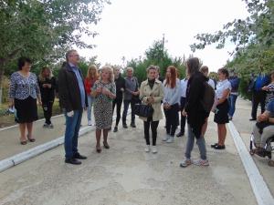Гости из Германии посетили дендропарк в Ларжанке