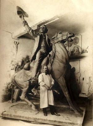Закладка памятника Суворову 103 года назад