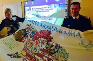 Вышитая карта Украины побывала в Измаиле