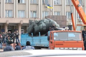 Бронзовая статуя Ленина: год под крылом водоканала