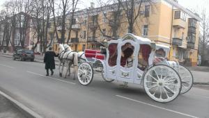 По городу путешествовала сказочная карета