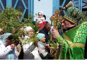 В этот день чудесный и весенний Вербное пришло к нам воскресенье!