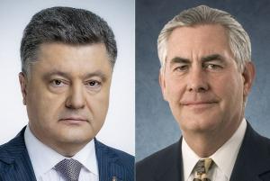 В АП рассказали подробности телефонного разговора Порошенко и Тиллерсона