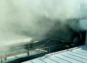 На судоремонтном заводе в Килии горело грузовое судно