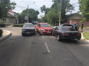 Тройная авария по вине одного водителя
