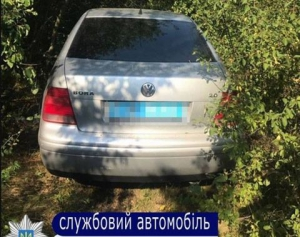 В Одесской области четверо бандитов с гранатой напали на полицейских и отобрали у них служебный автомобиль