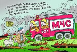 Пожарный спит – страна борзеет…