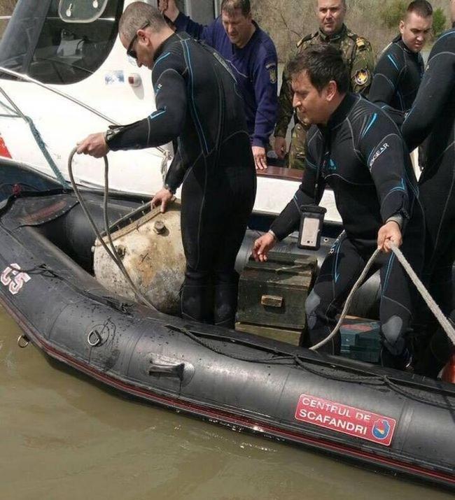 Румынские специалисты обнаружили пятую мину на Дунае