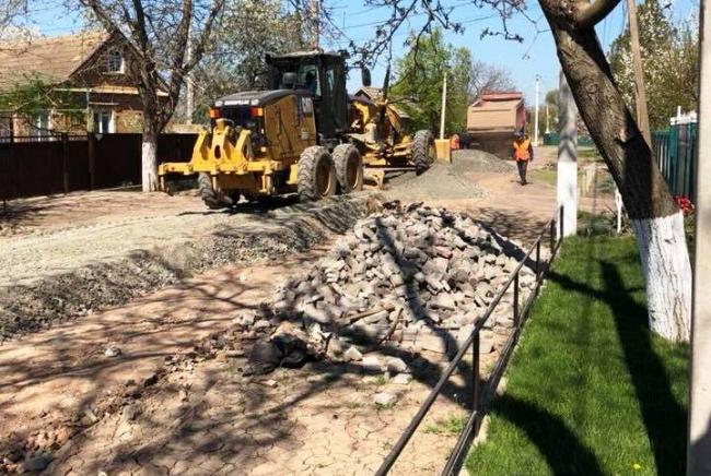 Капитальный ремонт дорог коммунальной собственности в селе Шевченково