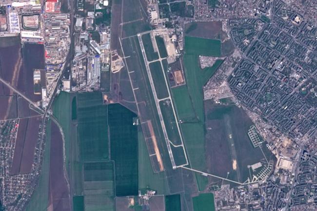 Прогресс в строительстве новой полосы в аэропорту Одесса показали из космоса