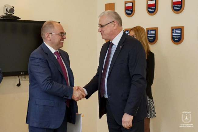 Председатель Одесской ОГА Максим Степанов встретился с главой Миссии ЕС по приграничной помощи Молдове и Украине (EUBAM) Славомиром Пихором