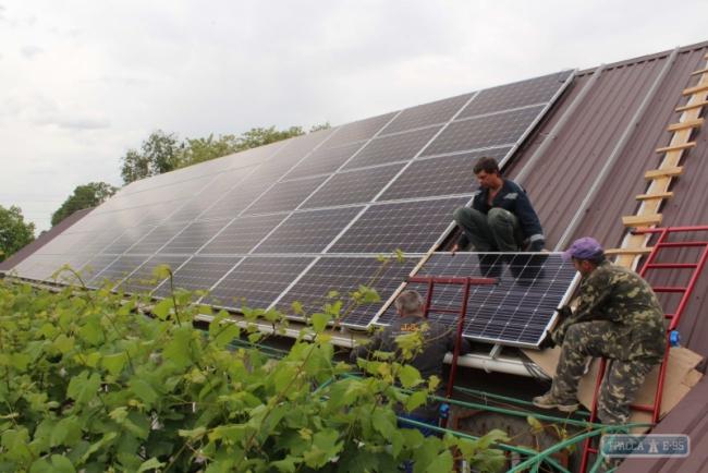 Первая солнечная электростанция появилась на крыше частного дома в Болграде
