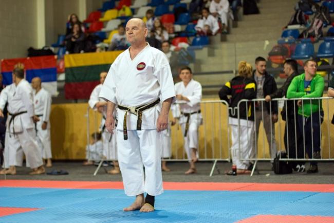 На спортивном семинаре по каратэ в Киеве