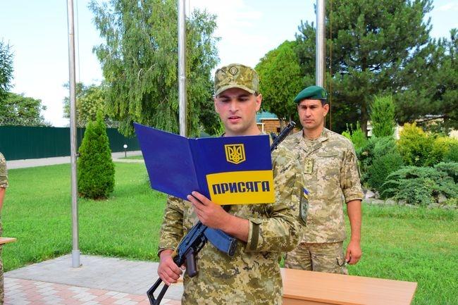 В Измаильском погранотряде военнослужащие по контракту приняли воинскую присягу