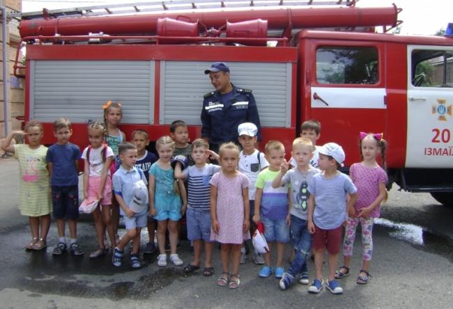 Дети в гостях у спасателей