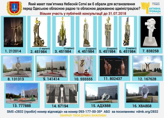 Завершилось голосование открытого архитектурно-художественного конкурса на определение лучшего проектного предложения сооружения памятника Героям Небесной Сотни