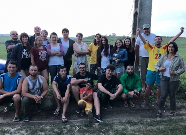 Студенты-историки на раскопках позднеримской крепости