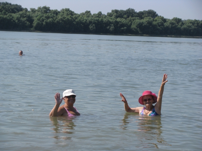 На свободном голубом Дунае