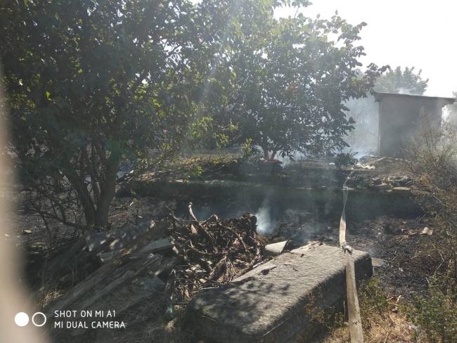 В Сафьянах горел дом