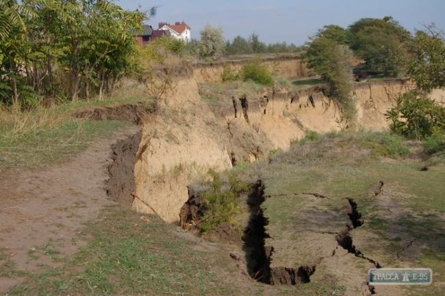 Огромный оползень произошел на курорте под Одессой