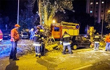 Ураган «Лесли» обрушился на Португалию