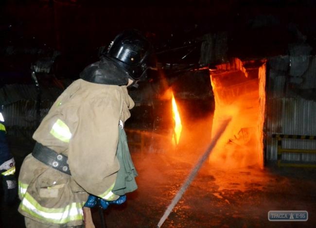 ГосЧС о масштабном пожаре под Одессой: утечек опасных веществ нет