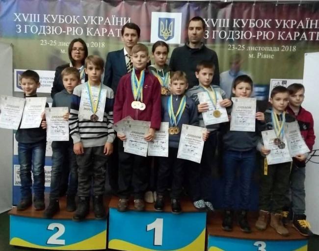 Измаильские каратисты собрали богатый урожай медалей на Кубке Украины в Ровно