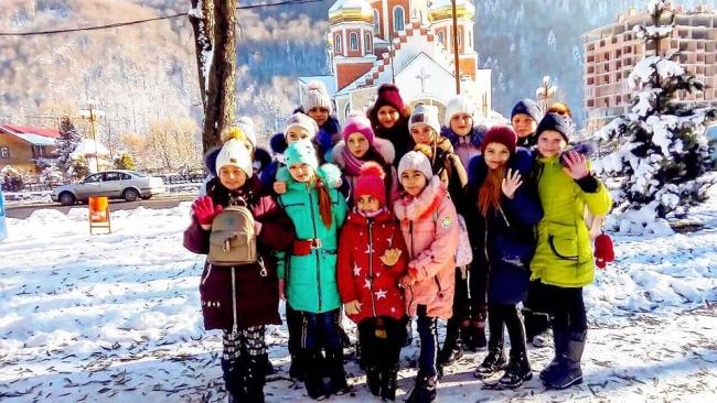 Зимний звездопад в Карпатах