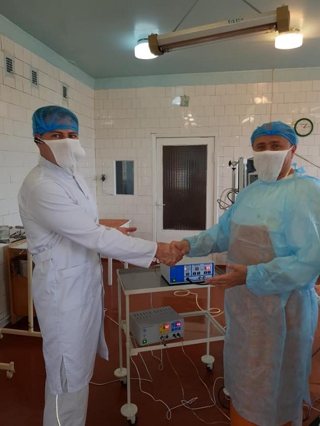 В Килии впервые в Украине в условиях районной больницы провели операцию с использованием биосварки