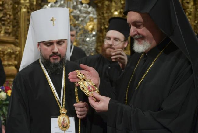 Епифаний провёл свою первую службу в статусе главы Украинской поместной церкви