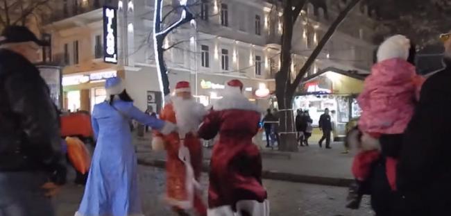 В Одессе подрались Деды Морозы