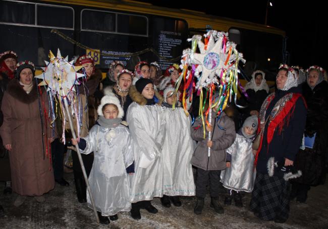 Впервые по улицам Измаила проехал «Рождественский экспресс»