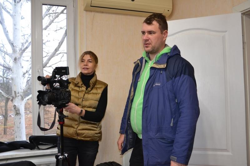 Американская кинорежиссёр снимает фильм об озере Сасык