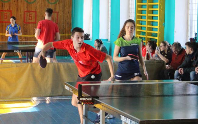 Чемпионат города по настольному теннису среди смешанных пар