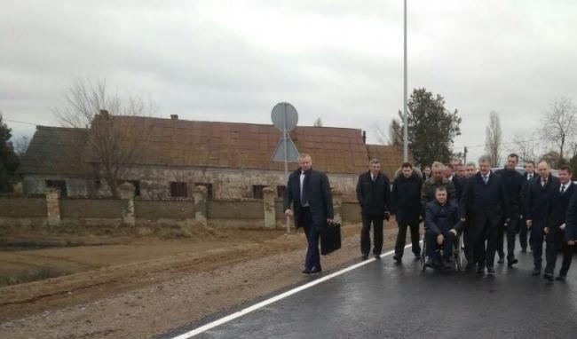 Президент Украины Пётр Порошенко прибыл в Ренийский район для участия в торжественном открытии объездной дороги