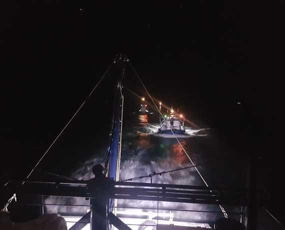 Морская охрана задержала три рыболовные шхуны под флагом Турции, направлявшиеся в Одессу