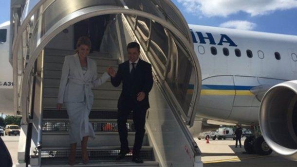 Зеленский прибыл в Париж с официальным визитом