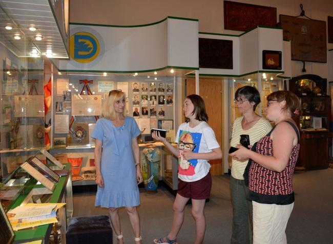 В музее УДП побывали гости из Бельгии