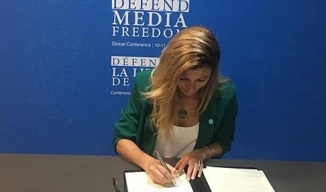 Украина присоединилась к глобальному обязательству относительно свободы медиа