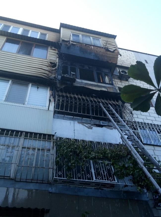 Масштабный пожар в спальном районе Измаила