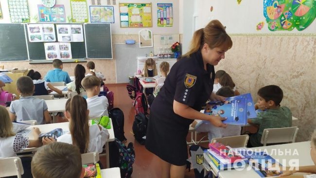 Измаильские ювеналы приехали в гости к ученикам начальной школы